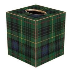 TB8242-Plaid Tissue Box Cover