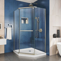 DreamLine Prism 36 in. x 36 in. x 74 3/4 in. H Frameless Pivot Shower Enclosure
