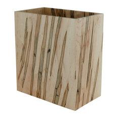 Ambrosia Maple Wastebasket, Satin Finish, Rectangle