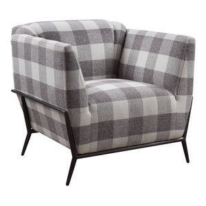 ACME Hinte Pattern Fabric Accent Chair