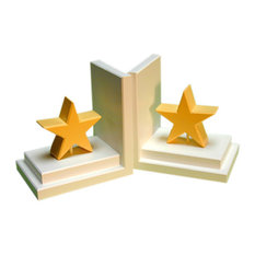 Pastel Star Bookends, Yellow