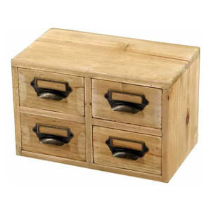 Traditional Storage-Drawer With Solid Wood Construction and 4-Drawer