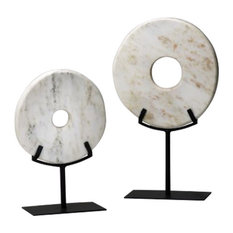 Large White Disk on Stand