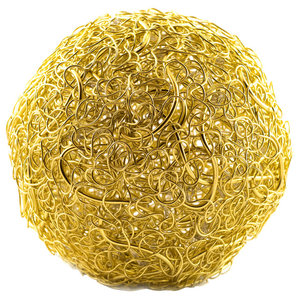 Medium Tyche Globe Floor Lamp, Gold