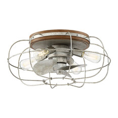 Junction 6-Light Ceiling Fan, Galvanized, Galvanized Finish