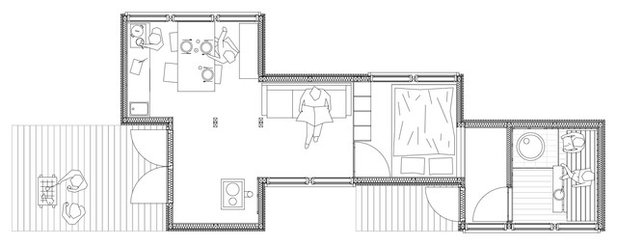 Modern Floor Plan by studio politaire