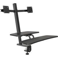 Desk Mounted Sit/Stand Workstation, Dual Monitor