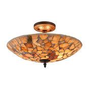 """Kai Mosaic 2-Light Semi-Flush Ceiling Fixture 16"""""""