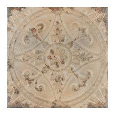 "SomerTile 13""x13"" Saja Ceramic Floor and Wall Tile, Case of 10, Beige"