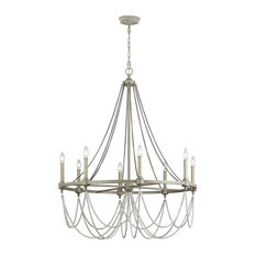 Beverly 8-Light Chandelier, French Washed Oak/Distressed White Wood