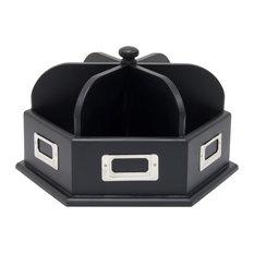Wood Desk Carousel, Black
