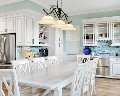 Pearl finish with Cognac glaze - Kitchen Cabinetry