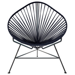 Perfect Contemporary Outdoor Lounge Chairs Acapulco Chair With Black Frame Black Weave