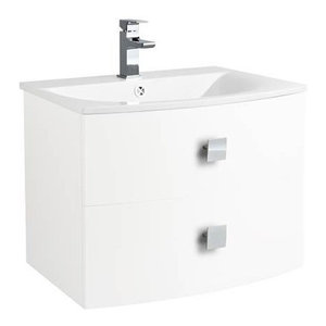 Sarenna Wall-Mounted Bathroom Vanity Unit, White, 70 cm