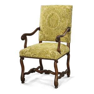Chair Accent Aubusson Patterns Antiqued