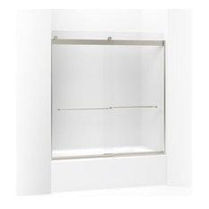 "Kohler - Kohler Levity Sliding Bath Door and Towel Bars, 62""x56.63""-59.63"", Matte Nickel - Shower Doors"