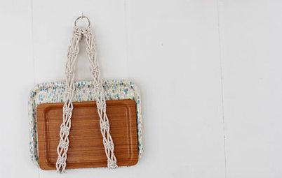 簡単DIY:マクラメ編みのトレイホルダーを作ろう