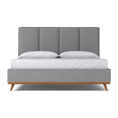Carter Upholstered Bed, Mountain Gray, Eastern King