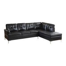 Cruz Sectional Collection Black Sectional Sofa