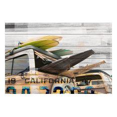"""""""Cali Day"""" Print on White Wood, 45""""x30"""""""