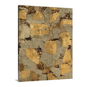 """Gilded Stone Gold I Wrapped Canvas Art Print, 16""""x20""""x1.5"""""""