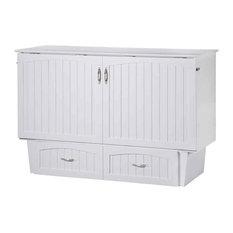 the Atlantic Furniture - Deerfield Queen Murphy Bed Chest, White - Platform Beds