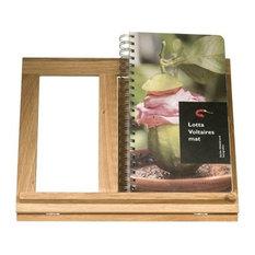 Oval Oak kokbokshållare