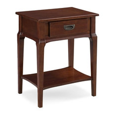 Bowery Hill Night Stand With Drawer, Heartwood Cherry