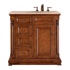 "36"" Modern Single Right, Sink Bathroom Vanity, Distressed Finish"