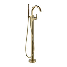 Delta T4759-FL Floor Mounted Tub Filler for Free Standing Tub, Champagne Bronze