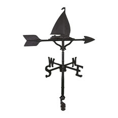 Aluminum Sailboat Weathervane, Black