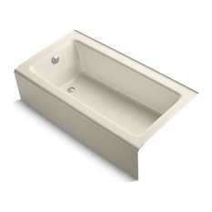 "Kohler Bellwether 60""x32"" Alcove Bath With Left-Hand Drain, Almond"