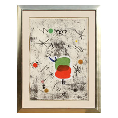 Joan Miro, Serie Personages i estels 54, Etching Aquatint With Collage