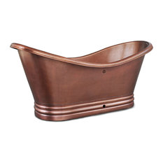 Euclid 6' Handmade Copper Freestanding Bathtub With Overflow