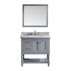 "Julianna 36"" Single Bathroom Vanity Cabinet Set, Gray"