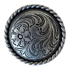 Silver Flower Medallion Napkin Rings, Set of 4