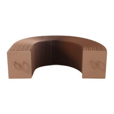 Concertina Paper Bench, Brown, Small