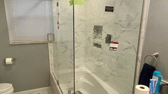 Completed Glass Shower Enclosures