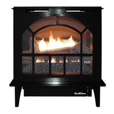 Buck Stove Hepplewhite Vent-Free Steel Gas Stove, Black - LP