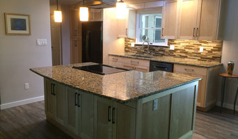 Kitchen Remodel - Maple cabinetry, engineered flooring, granite tops and tile