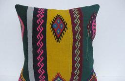 Bohemian Turkish Kilim Throw Pillow by Arasta Bazaar