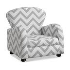 Juvenile Chair, Gray Chevron Fabric