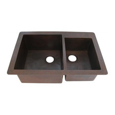 Guadalajara 60/40 Split Copper Kitchen Sink