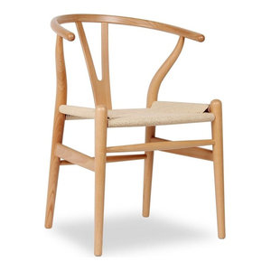 Y Wood Dining Chair, Natural Beech With Natural Seat