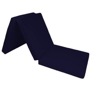 Single Futon Bed, Navy Blue Cotton, Simple Modern Style, Soft and Comfortable