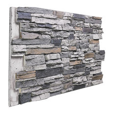 Deep Stacked Stone Wall Panel, Beach