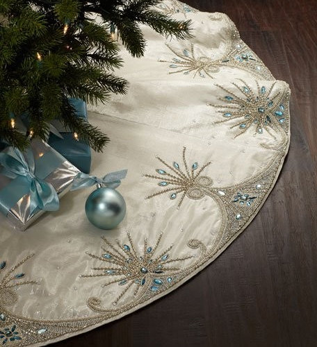 Kim Seybert Jewel Tiara Christmas Tree Skirt 625