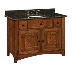 amish showroom springhill bathroom vanity graphite quarter sawn white oak wood door