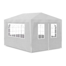 Outdoor 10'x13' Canopy Gazebo Party Tent with 4 Walls, White
