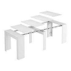 FORES - Extendable Console Table, Bright White - Console Tables